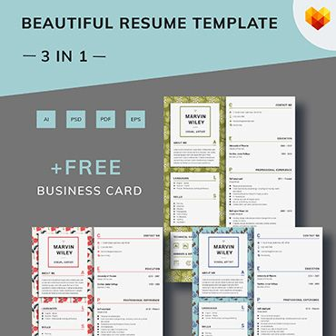 Marvin Wiley - Visual Artist Resume Template Theme Design