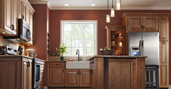 Maple Ginger Cabinets Kitchen In 2019 Lowes Kitchen