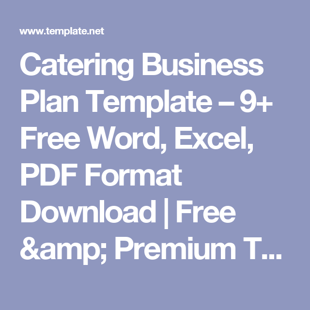 Catering business plan template 9 free word excel pdf format catering business plan template 9 free word excel pdf format download cheaphphosting Images