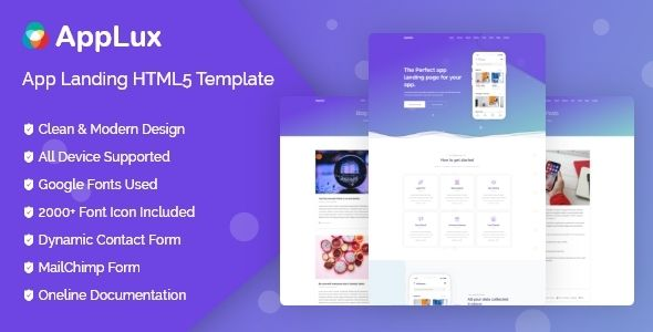 Applux Is A Responsive Html5css3 Template Based On