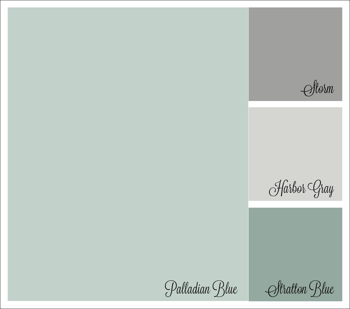Color Palette Benjamin Moore Palladian Blue Storm Harboy Gray Stratton Blue Paint Colors