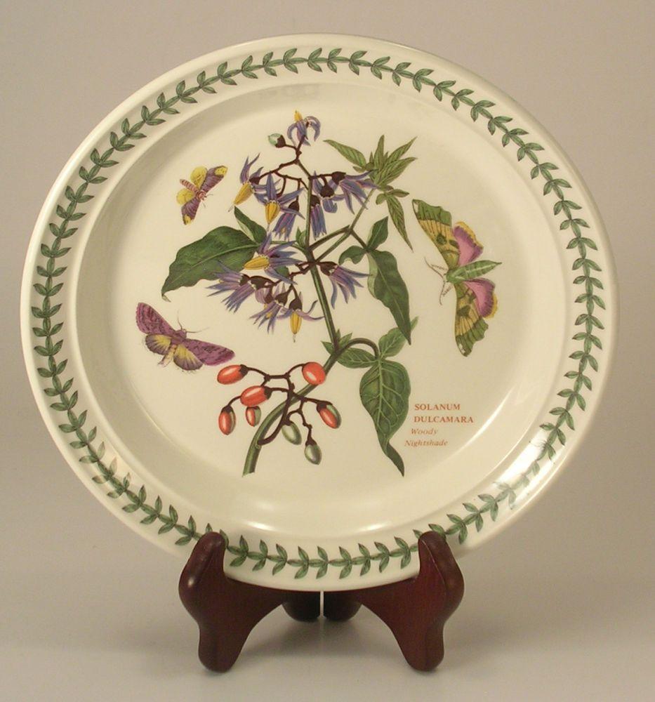Portmeirion botanic garden woody nightshade salad plate 8 for Portmeirion botanic garden designs