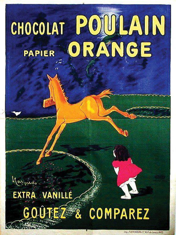chocolat poulain leonetto cappiello 1911 affiche. Black Bedroom Furniture Sets. Home Design Ideas