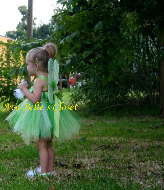 Tinker Bell Pixie Hollow Tutu Dress Costume 12M by AvaBellesCloset