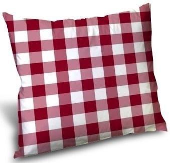 Carreaux vichy tissu ameublement au mètre motifs carrés rouge blanc ...