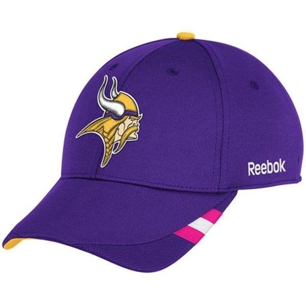 save off 9b5ff d638d Minnesota Vikings Hat Purple Breast Cancer Women Hat Reebok Coach Sideline  Flex  Reebok  MinnesotaVikings  13