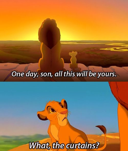 Simba would rather just sing.