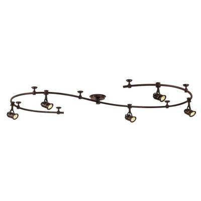 Antique Bronze Retro Pinhole Flexible Track Lighting Kit Ec6827abz At The Home Depot