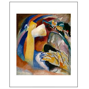 Study for Painting with White Form, 1913, by Kandinsky, Archival Print - Detroit Institute of Arts Museum Shop