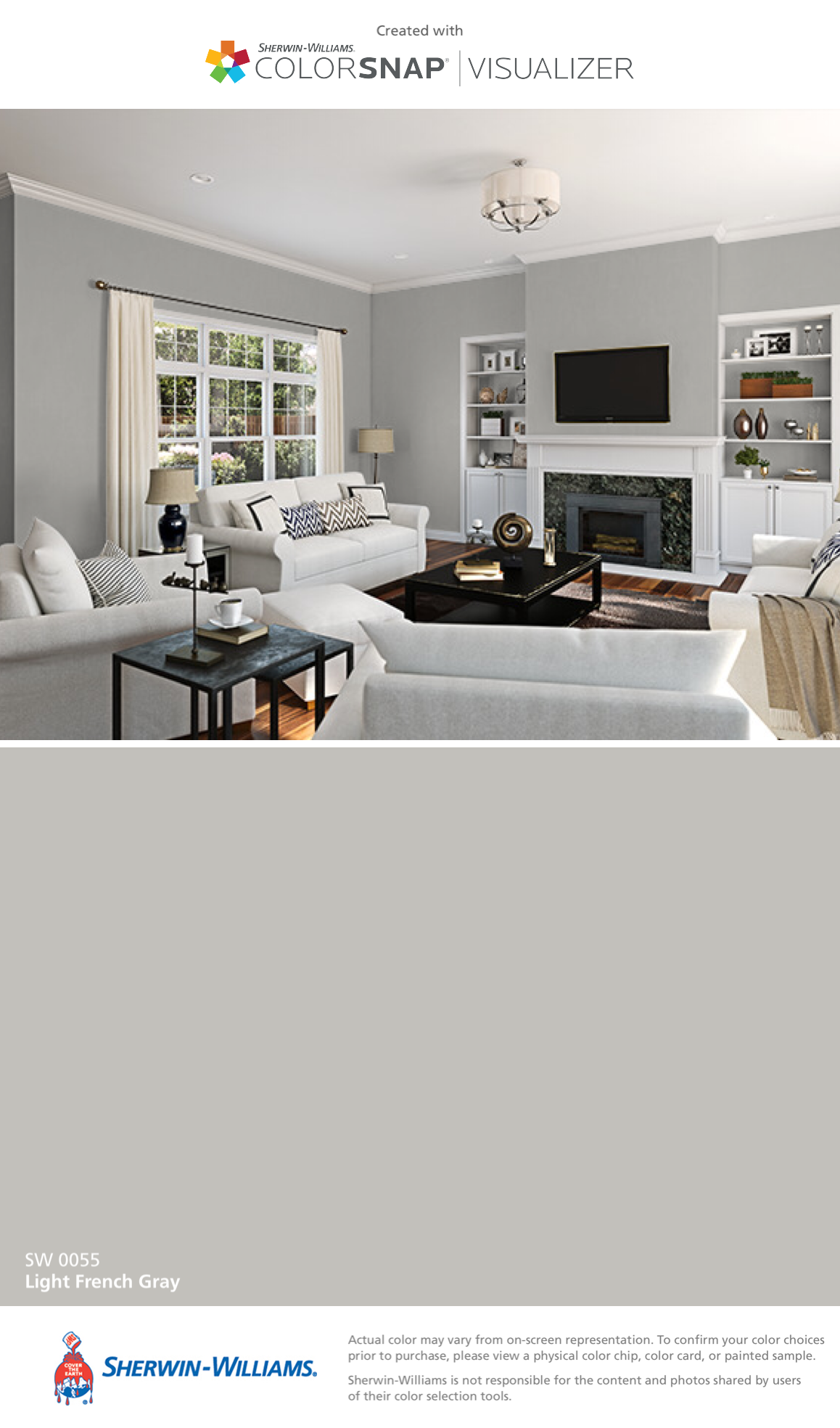 I Found This Color With Colorsnap Visualizer For Iphone By Sherwin Williams Light French Gray Sw 0055