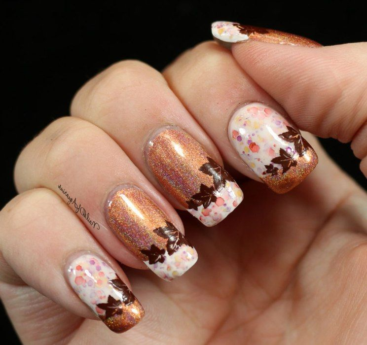 Shimmering Autumn Nail Art | Nail Art | Pinterest | Autumn nails ...