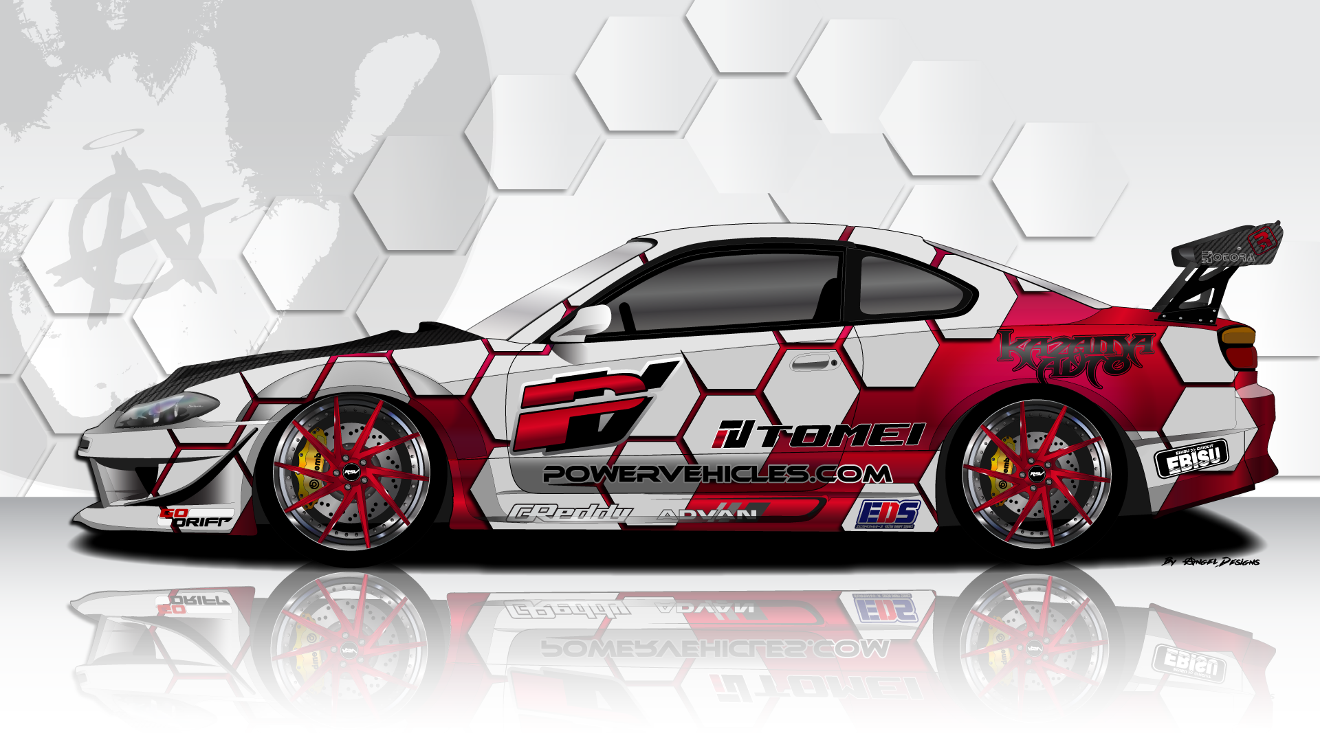 Nissan s15 silvia onna bugeisha petrolhead stickerdesigns wrapdesigns