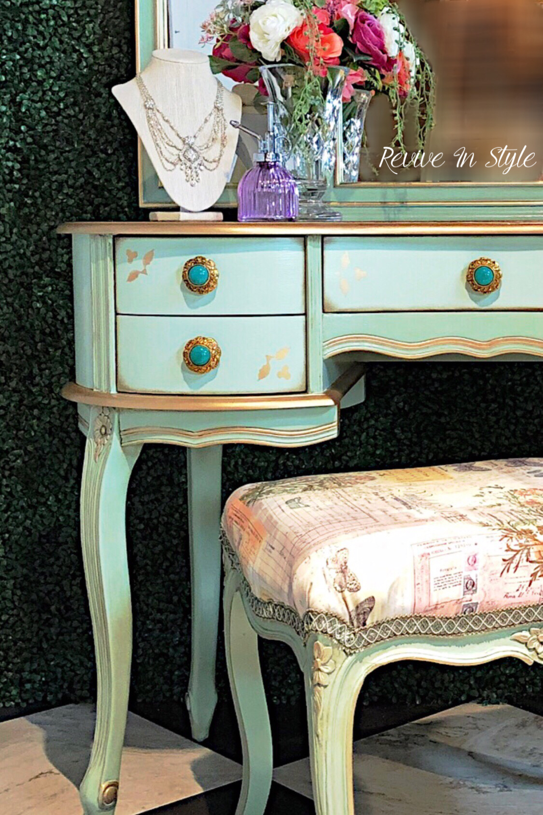 Painted and refinished vintage and antique furniture by revive in style general finishes shabby