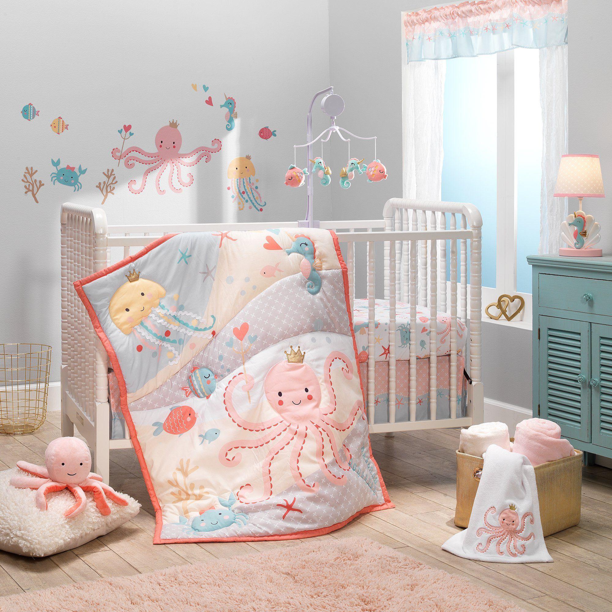 Bedtime Originals Ocean Mist Ocean Sea Animals Fitted Crib Sheet White Walmart Com Baby Crib Bedding Sets Baby Crib Bedding Crib Bedding