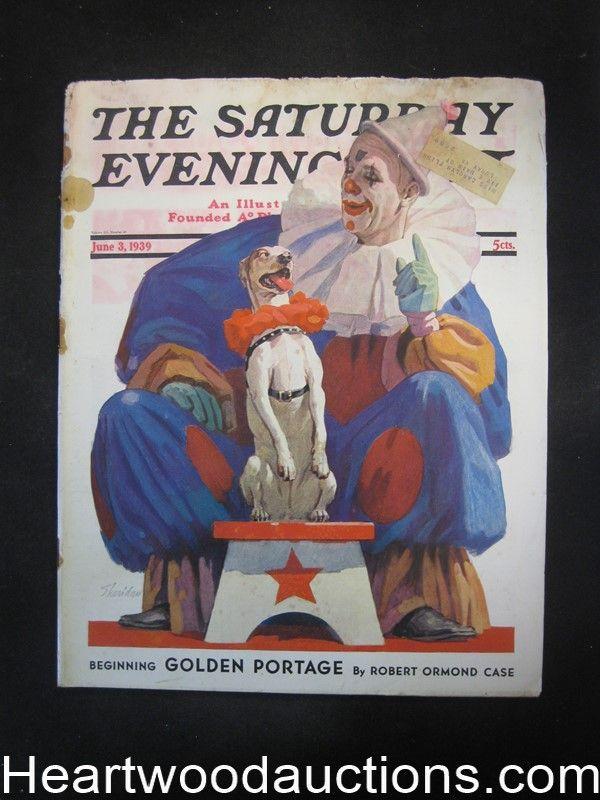 Saturday Evening Post Jun 3, 1939 Agatha Christie, Amos Sewell