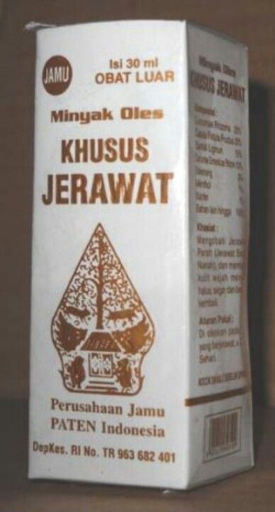 Minyak Oles Khusus Jerawat Perusahaan Jamu Paten Indonesia