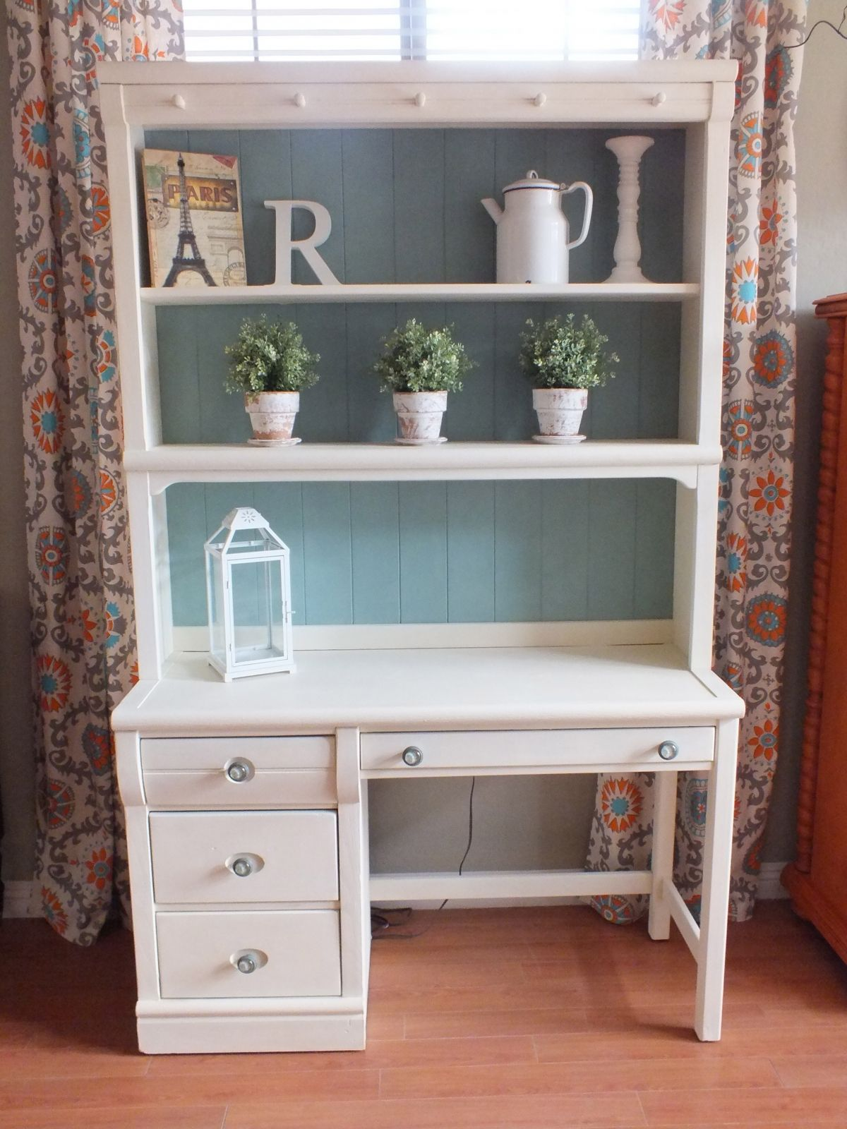 Cottage Shabby Chic Desk Hutch