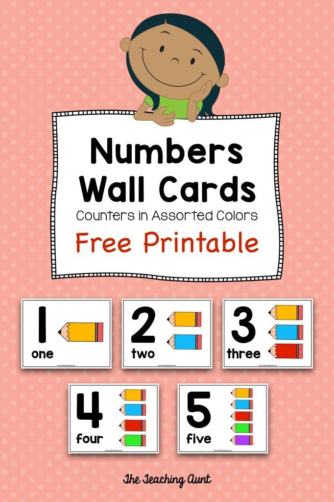 Number Wall Cards for Preschoolers with Colorful Pencil Counters is part of Numbers preschool printables, Learning numbers, Free preschool printables, Numbers preschool, Teaching numbers, Free printable numbers - These number wall cards for preschoolers are great for learning numbers  Features include big numerals, number words and colorful pencil counters