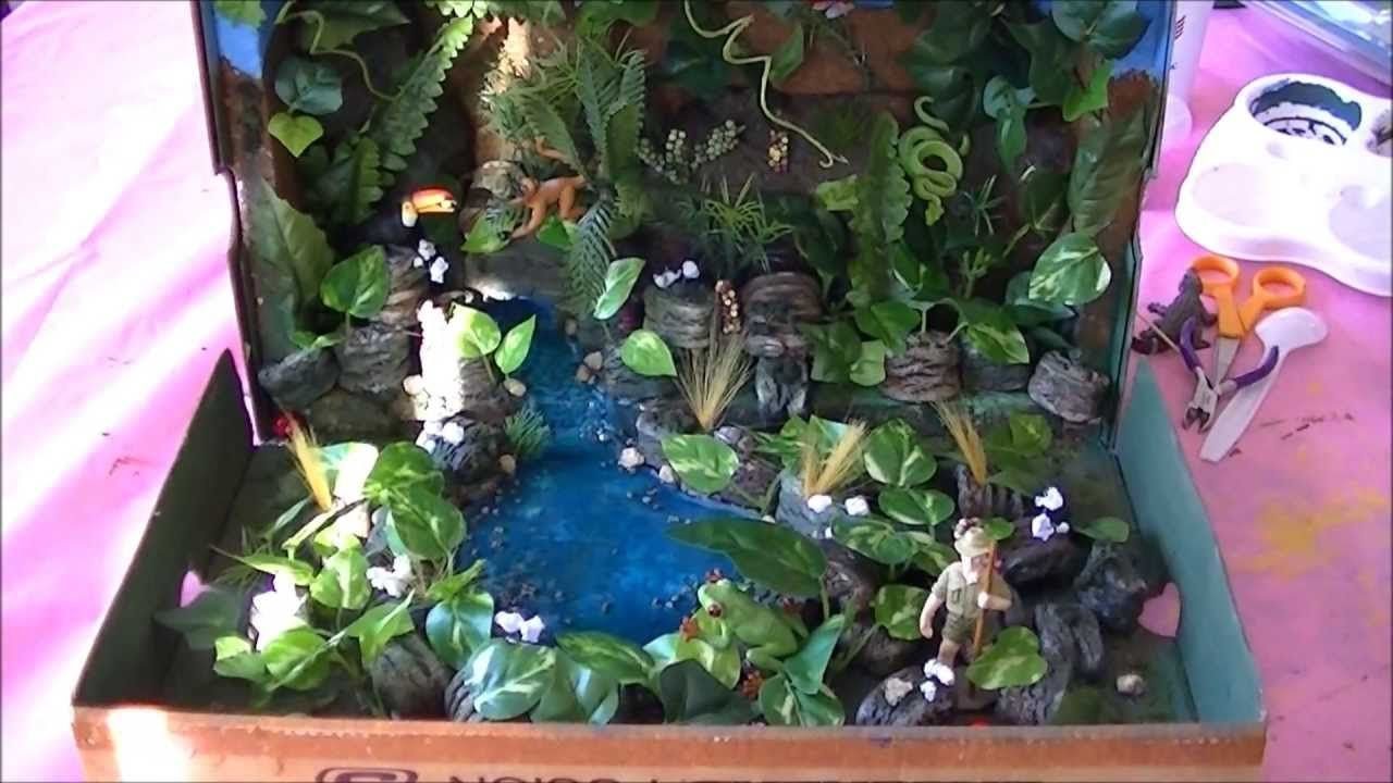How to Make Rainforest in a Shoebox School Project