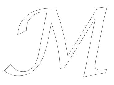 Letras M Para Coloraer En Cursiva Buscar Con Google Souvenir