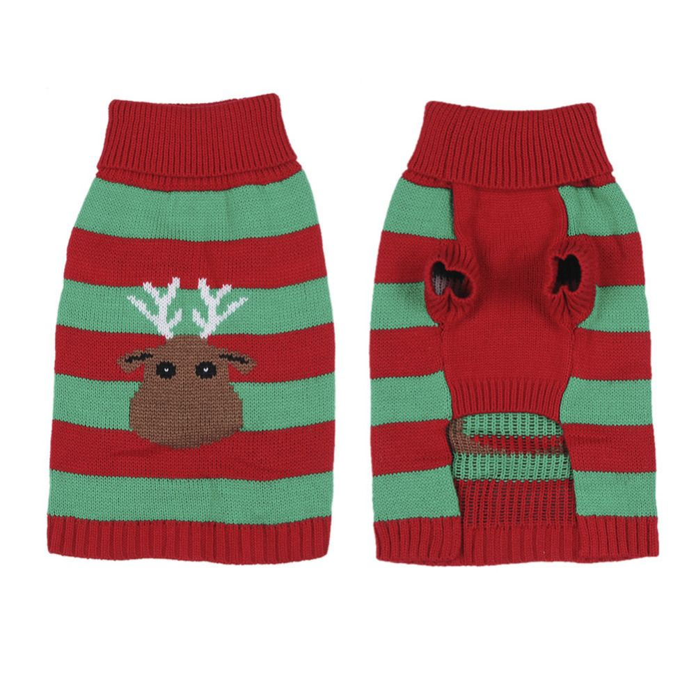 Christmas Festive Apparel Sweater For Puppy Kitten Clothes Pet Dog ...