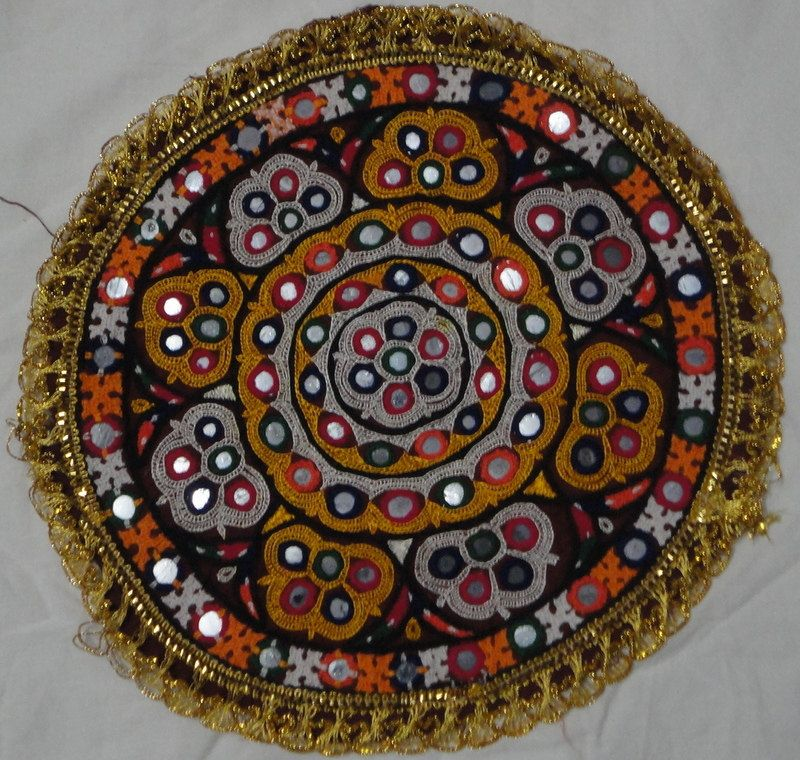 Vintage Gujarat Kutchi Mirror Work Handmade Embroidered