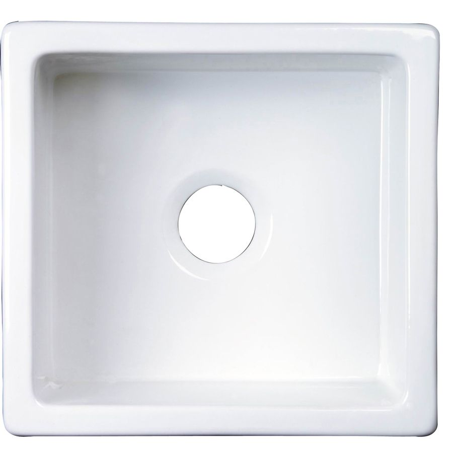 Barclay 17 5 In X 18 37 In White Single Basin Undermount