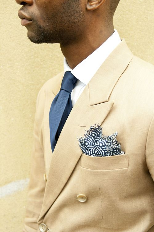 Homme Cravate Chemise Mode Pochette Bleue Blanche Et Beige Veste qpHCw1x