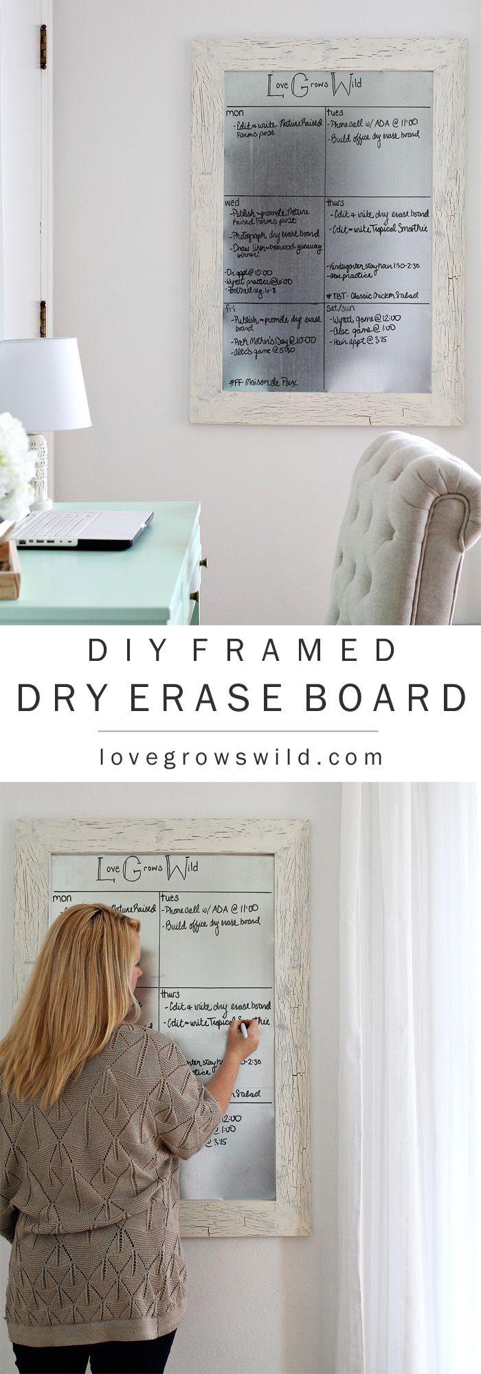 Diy Framed Dry Erase Board Best Of Pinterest Diy Frame
