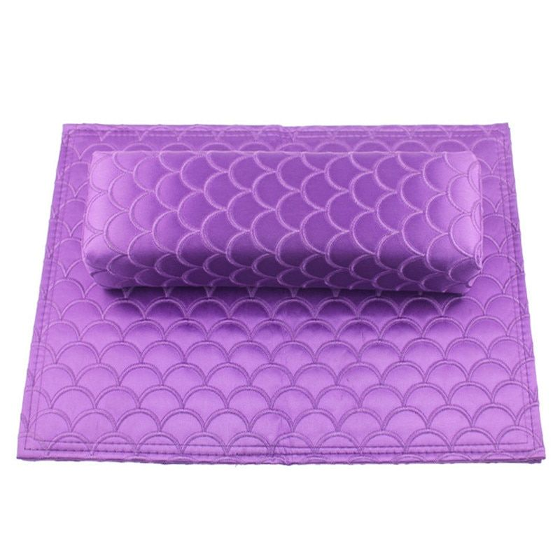 Professional Nail Art Hand Cushion Holder Soft Fish Scale Design Leather Sponge Arm Rest Nail Pillow Manicure Accessories Tool Beauty Store Professional Nails Professional Nail Art Beauty Store
