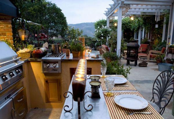 Outdoor Küche Esszimmer Patio Ideen Außenbereich Sommerküche - küche mit esszimmer