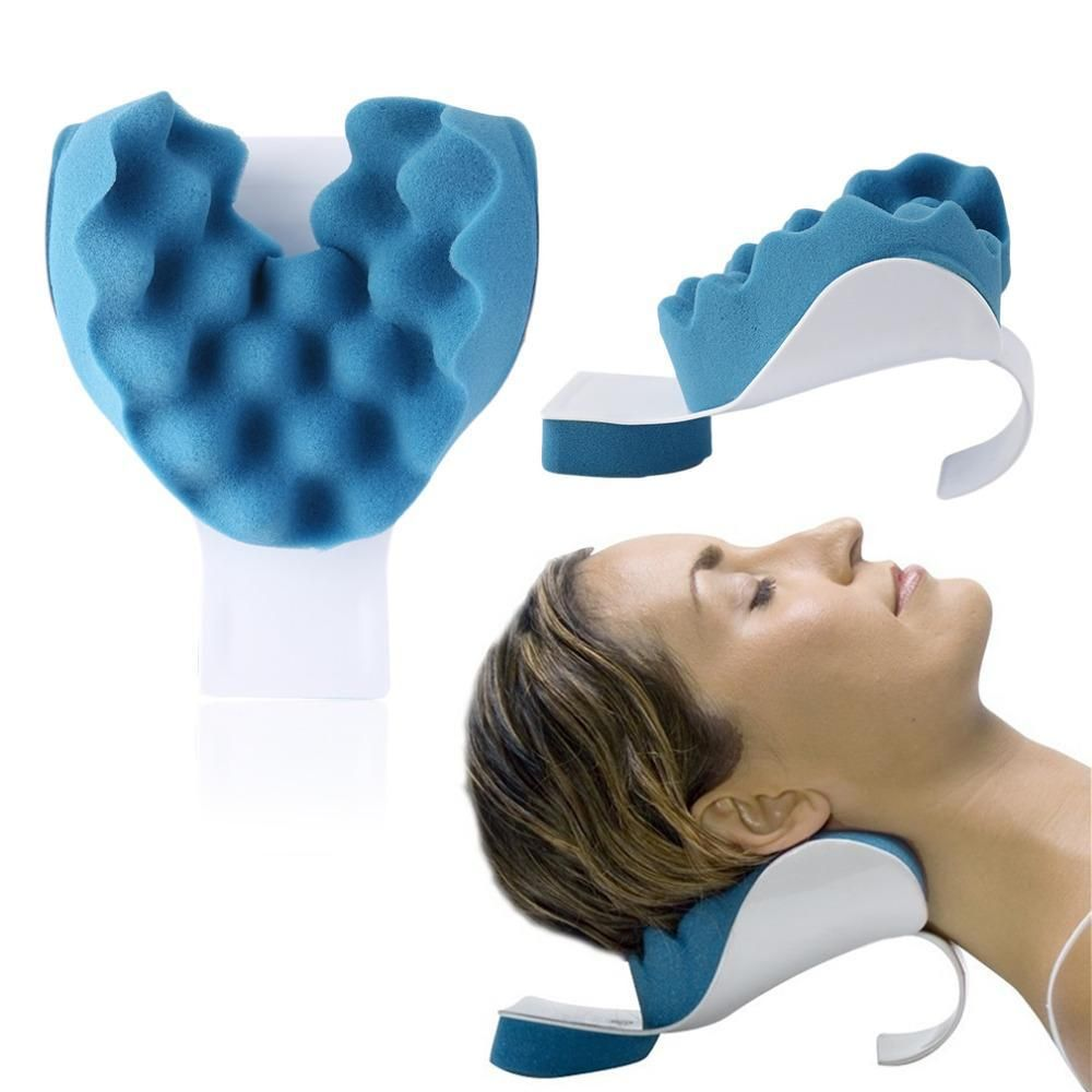 Travel neck pillow theraputic support tension reliever neck shoulder
