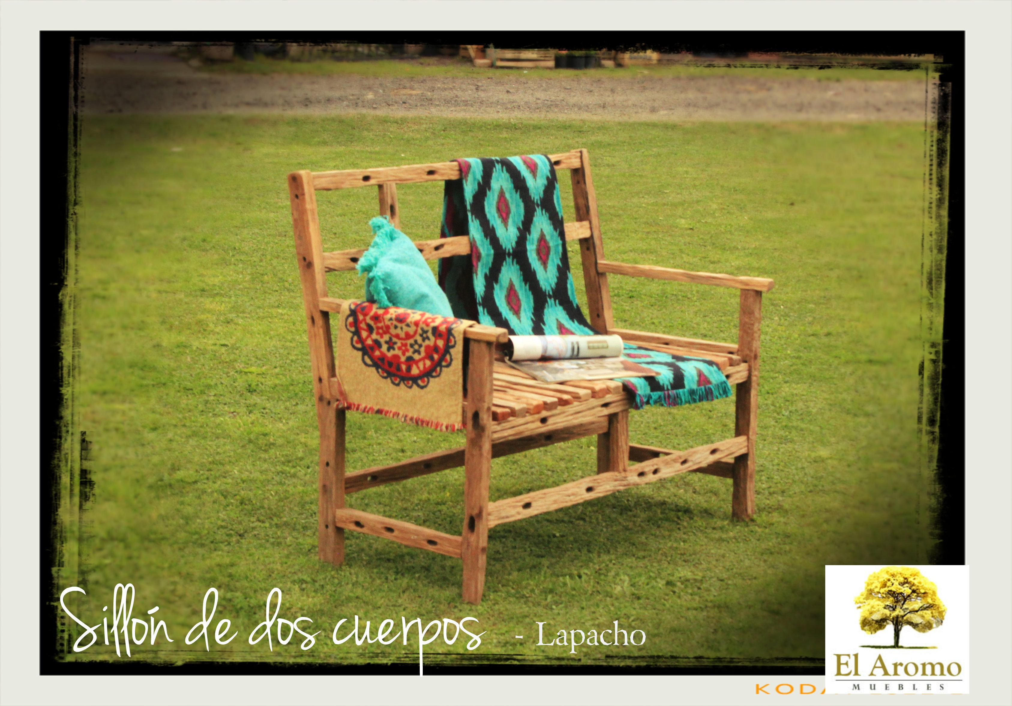 Sill N R Stico De Madera De Lapacho Hecho Con Antiguas Varillas  # Muebles Hechos Con Piques