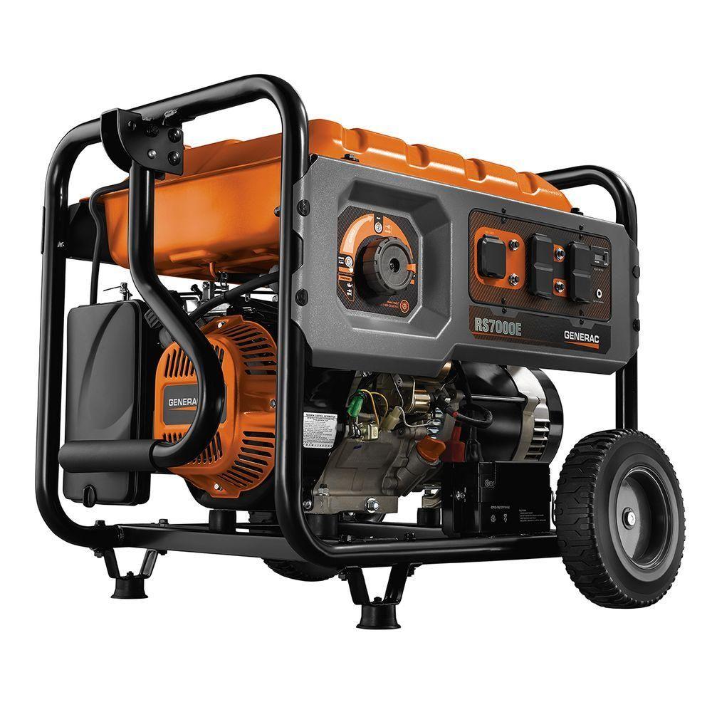 7,000 Watt Gasoline Powered Electric Start Generator with Rapid Start Dial