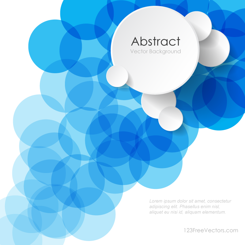 Modern Abstract Blue Circle Background Illustrator Image In