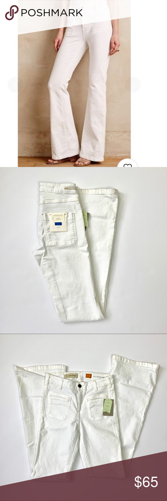 e8f3867d1e9 Pilcro   the Letterpress High-Rise Flare Jean NWT white high waisted flare  jeans with