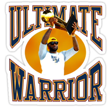 Lebron Ultimate Warrior Stickers By Thedanksmith Redbubble Ultimate Warrior Warrior Lebron