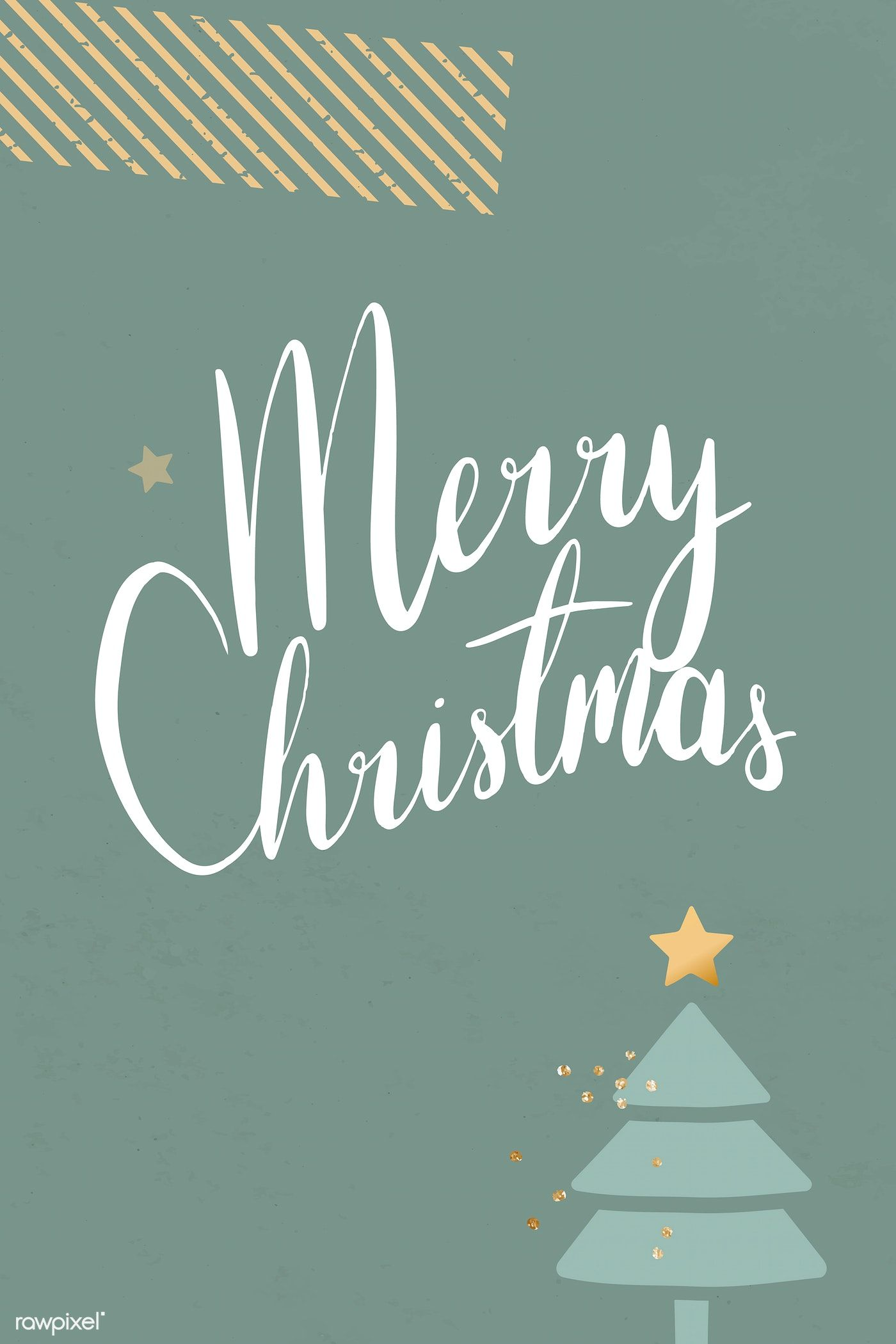 Download premium vector of festive merry christmas card