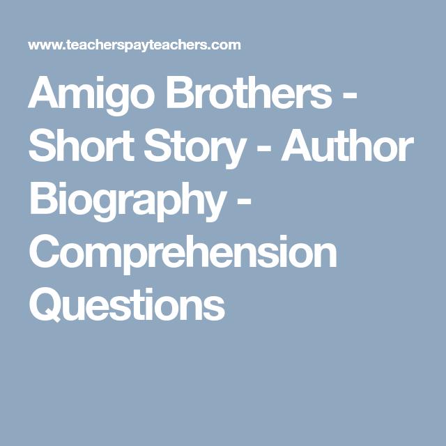 Amigo Brothers - Short Story - Author Biography ...