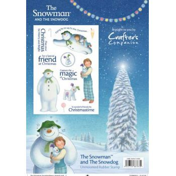 Crafters Companion The Snowman and Snowdog A5 Rubber Stamp
