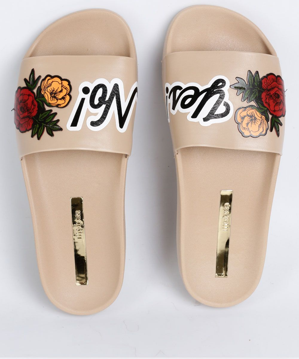 e3c72a8c51 Chinelo Feminino Slide Estampa Floral Moleca