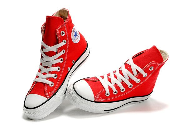 Doctor Who David Tennant Red Converse High Tops Chuck