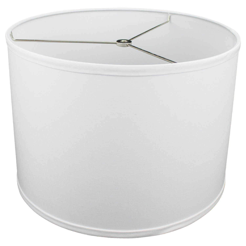 Fenchelshades Com 14 Top Diameter X 14 Bottom Diameter 10 Height Cylinder Drum Lampshade Usa Made White Cont In 2020 Drum Lampshade White Drum Gold Lamp Shades