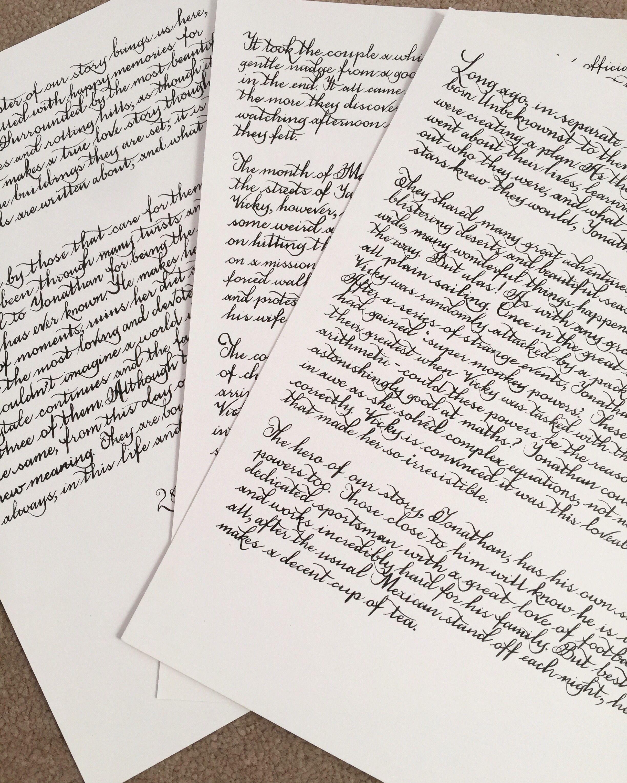 Custom Handwritten Calligraphy Letter Calligraphy Custom