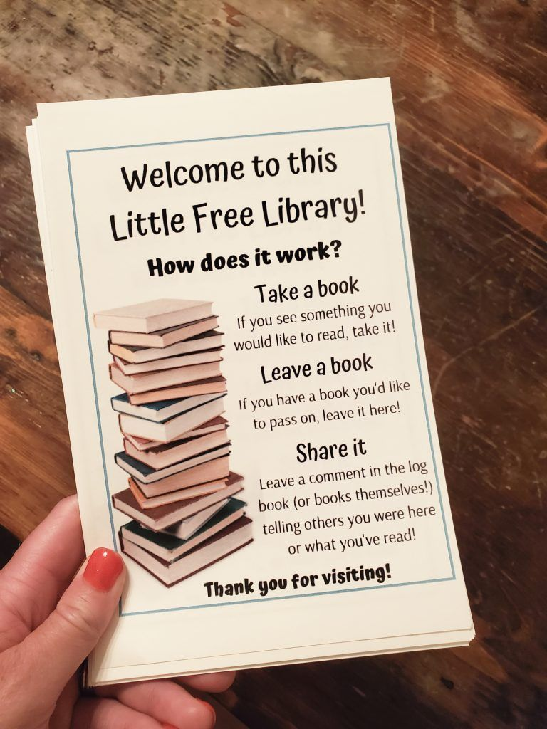 How to Start a Little Free Library in Your Yard Little
