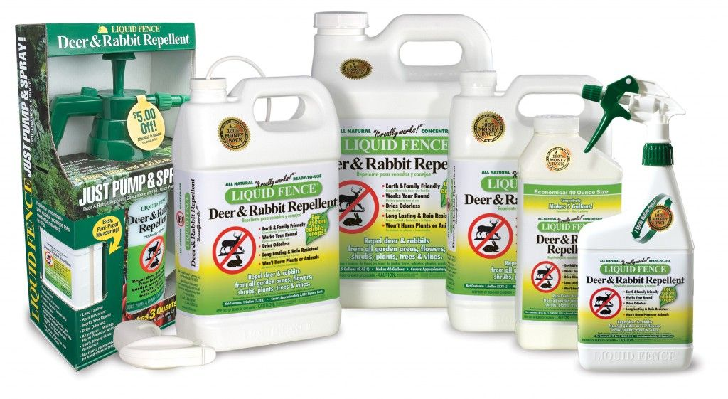 Liquid Fence Deer and Rabbit Repellant. This stuff is the