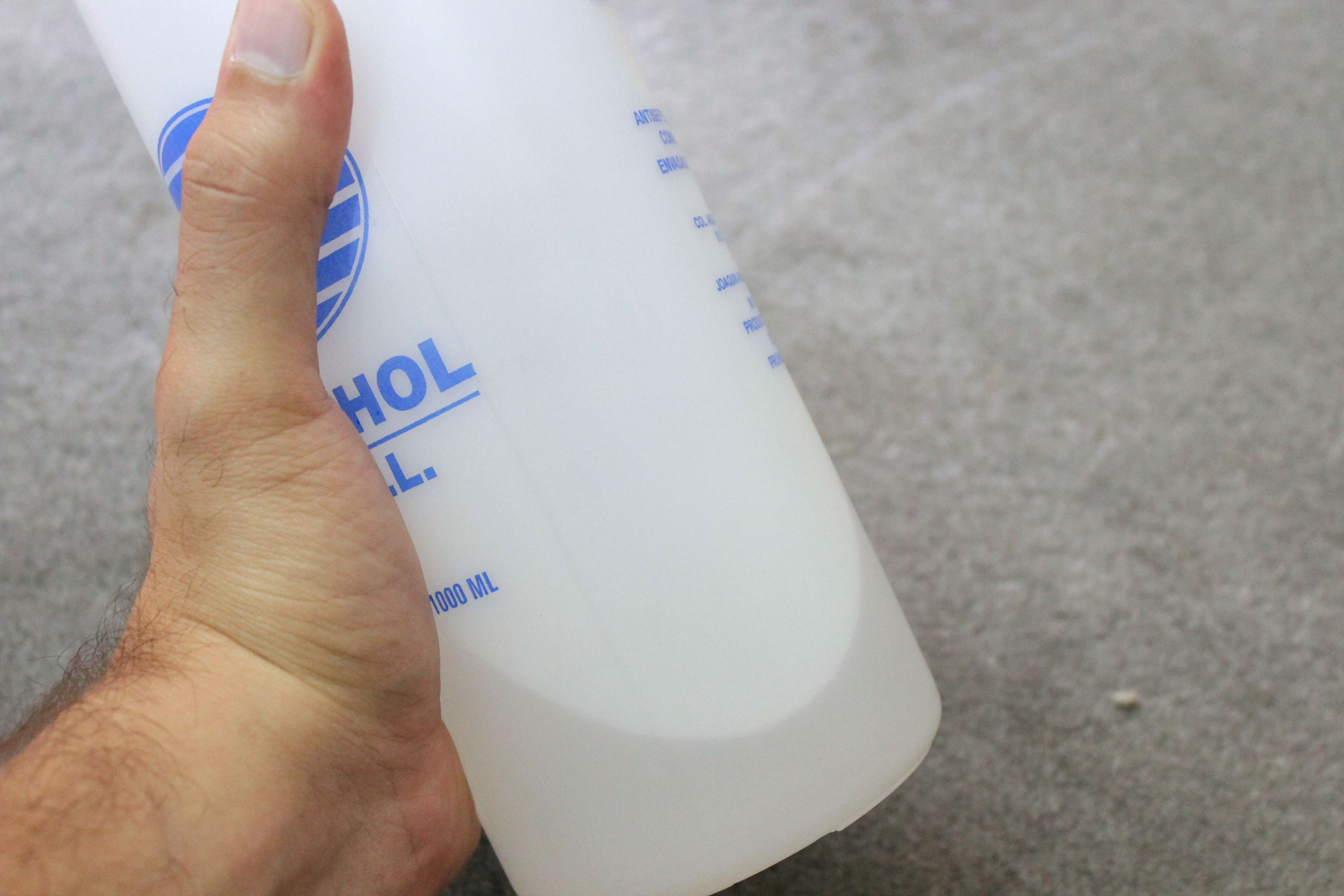 Dilute rubbing alcohol using one part alcohol and one part