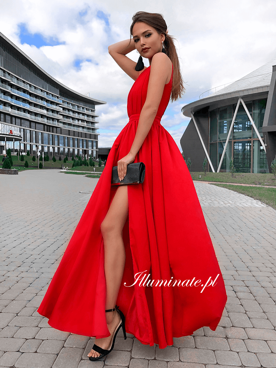 Ellie Czerwona Dluga Sukienka Maxi Dress Prom Unique Skirts Dresses