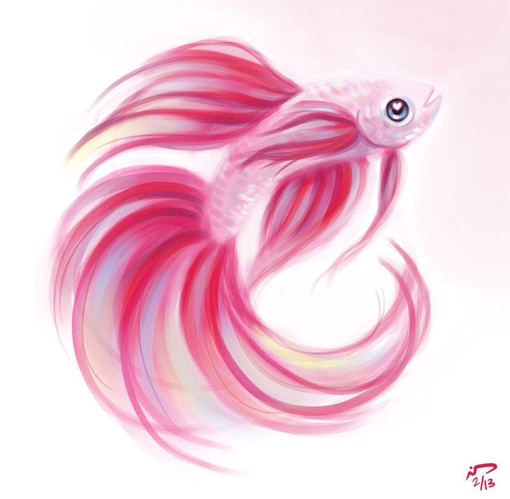 Party Betta Watercolor Fish Fish Drawings Fish Art