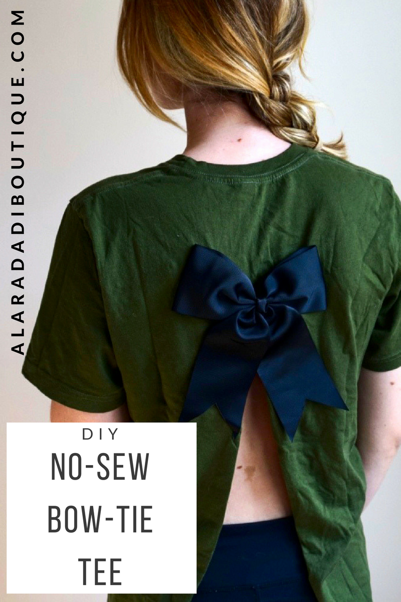 Diy back bow fashion: t-shirt